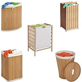 bamboo, hampers, laundry