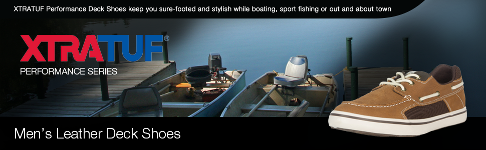 XTRATUF Finatic II Men's Leather Deck Shoes, deck shoes, boat shoes