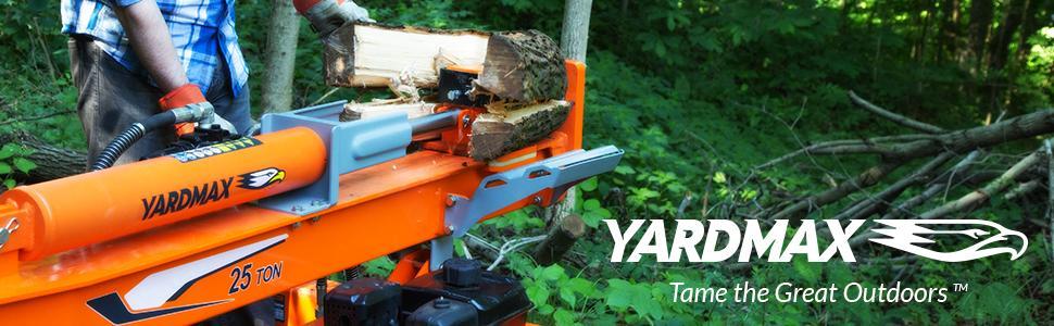 log, splitter, gas, full beam, 4-way, four, wedge, briggs & stratton, yardmax, 25 ton