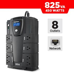 CyberPower CP825LCD Battery Backup UPS