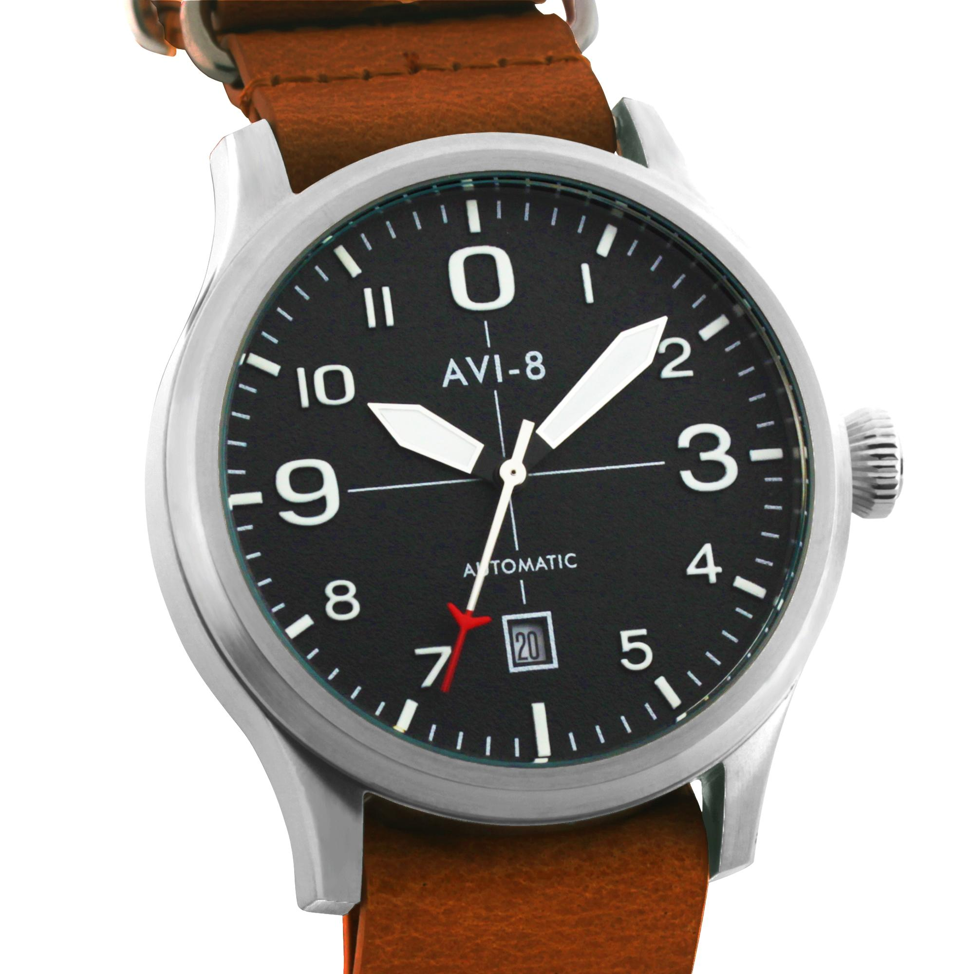 watches co pilot vintage main genesee watch inspired aviator