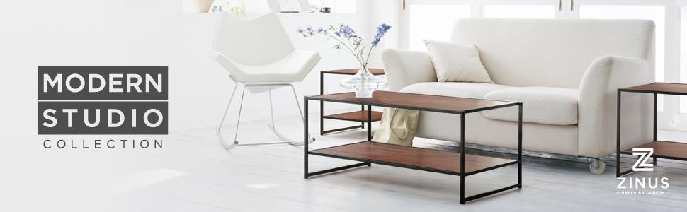 Amazon.com: Zinus Modern Studio Collection Rectangular Coffee Table ...