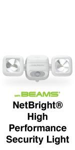 Mr beams mbn3000 netbright 500 lumen high performance wireless wireless security light motion detector battery powered light motion sensor light network lights aloadofball Gallery