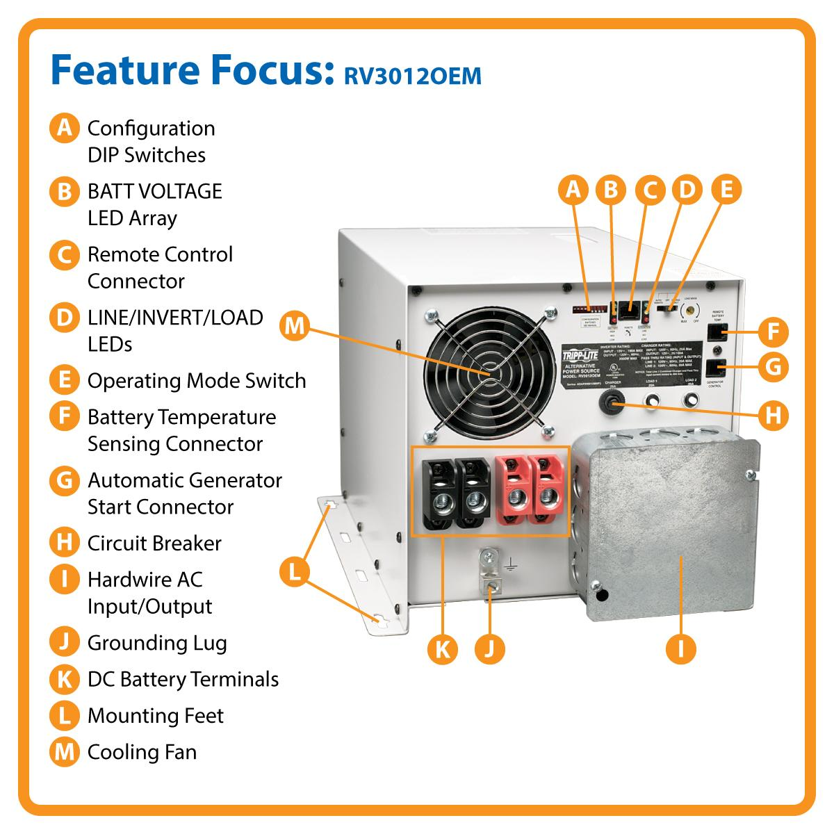 3000w Powerverter Rv Inverter Charger With Hardwire Freedom 20 Wiring Diagram Works As An Standalone Ac Power Source Or Ups
