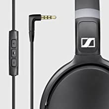 sennheiser hd black around ear headphones electronics. Black Bedroom Furniture Sets. Home Design Ideas