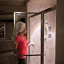 mr beams ceiling light, wireless shower light