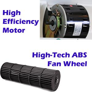High Efficiency Motor, Fan Wheel