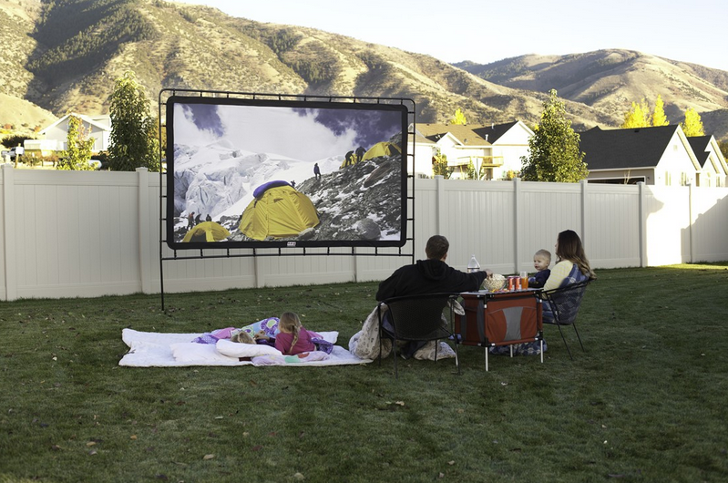 Theater Movie Screen Portable Outdoor Backyard Projector Rear Projection 144 Quot Ebay