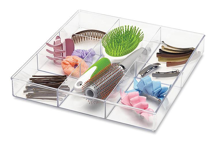 Amazon Com Whitmor 6 Section Drawer Organizer Clear