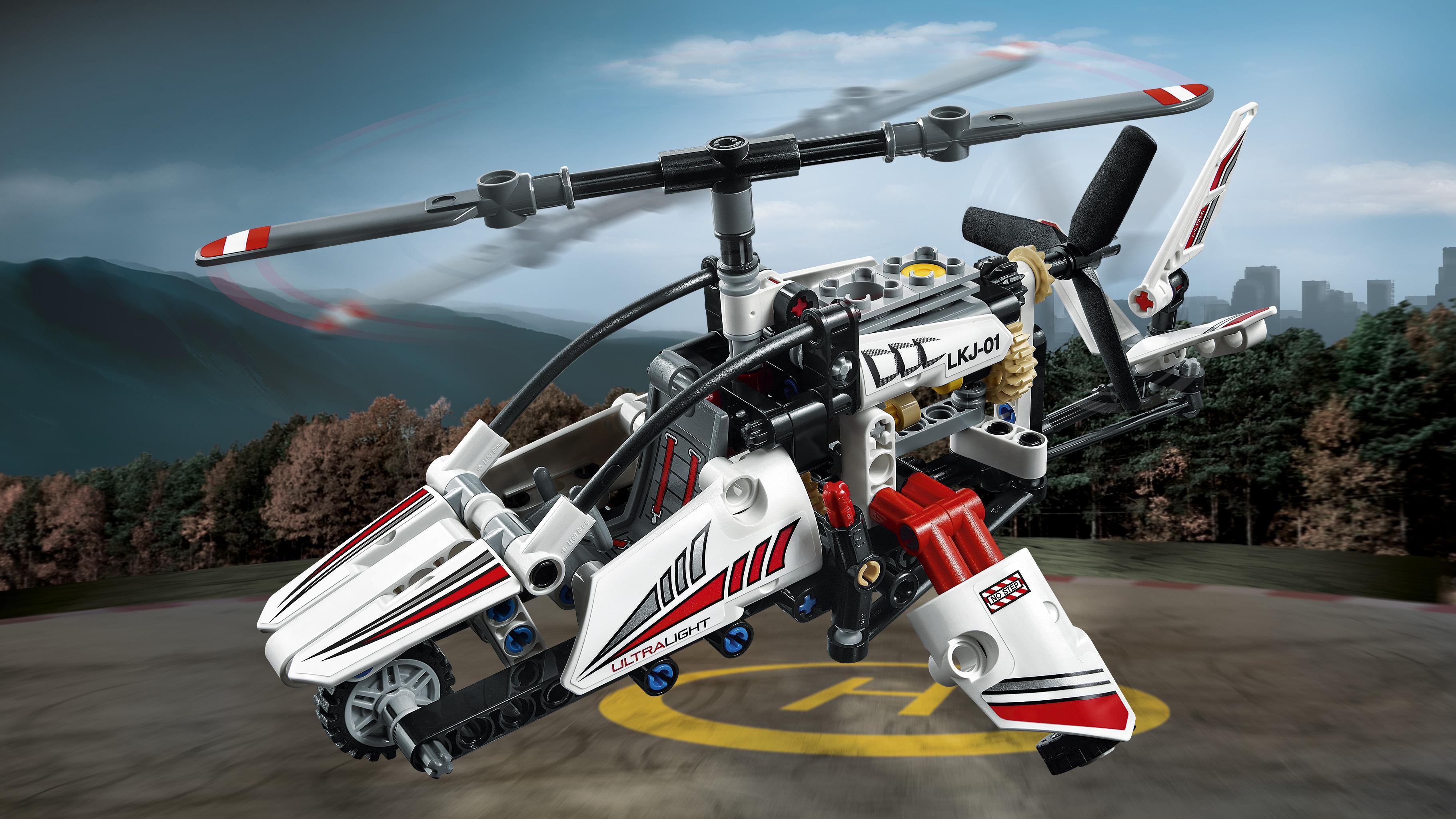 lego technic ultralight helicopter 42057 advance building set toys games. Black Bedroom Furniture Sets. Home Design Ideas