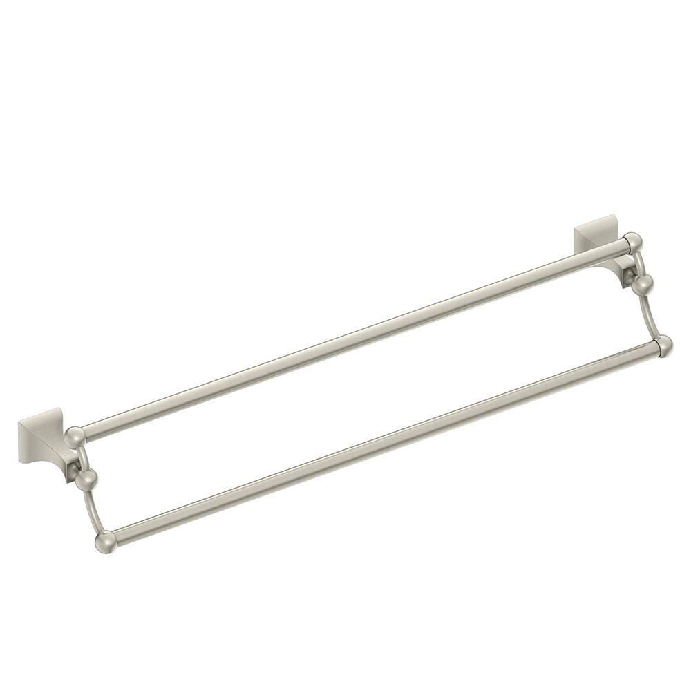 Moen Dn8322bn Retreat 24 Inch Bathroom Double Towel Bar Brushed