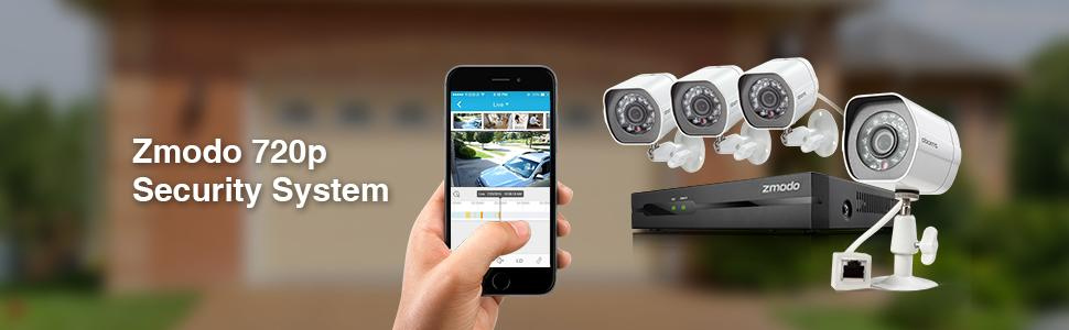 Zmodo SPoE Security System - 4 Channel NVR & 4 x 720p IP Cameras with No  Hard Drive