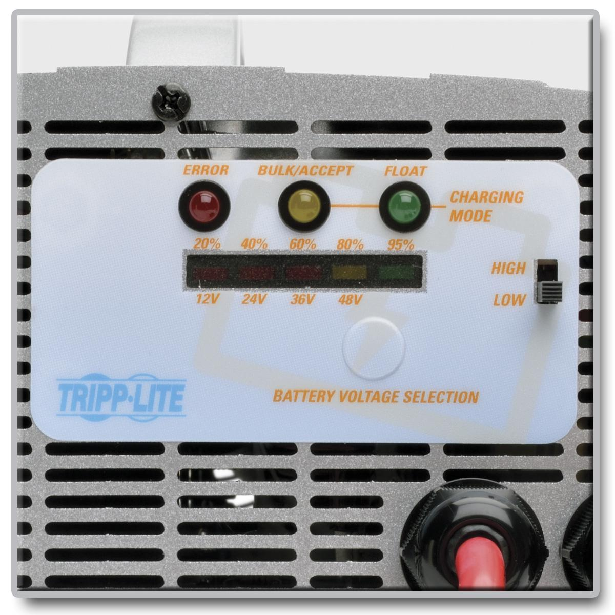 Tripp Lite Ubc41 4 In 1 Battery Charger 12v 24v 36v 48v Mains Voltage Indicator With A Led Indicators Premium Safety Features And Portable Design