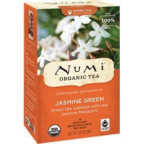 numi, numi tea, tea, organic tea, jasmine tea, jasmine green tea, jasmine, green tea
