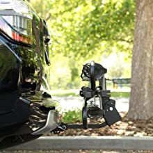 Chinook, Swagman, folding, adjustable rack, folds up against vehicle