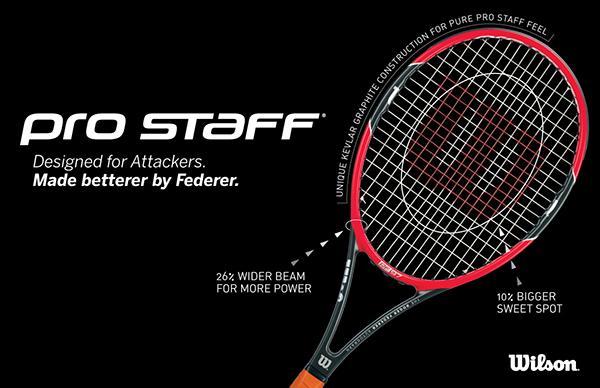 Unstrung Wilson Pro Staff Roger Federer 97 Autograph Tuxedo Tennis Racquet