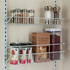 rack adjustable rack storage organization closetmaid kitchen