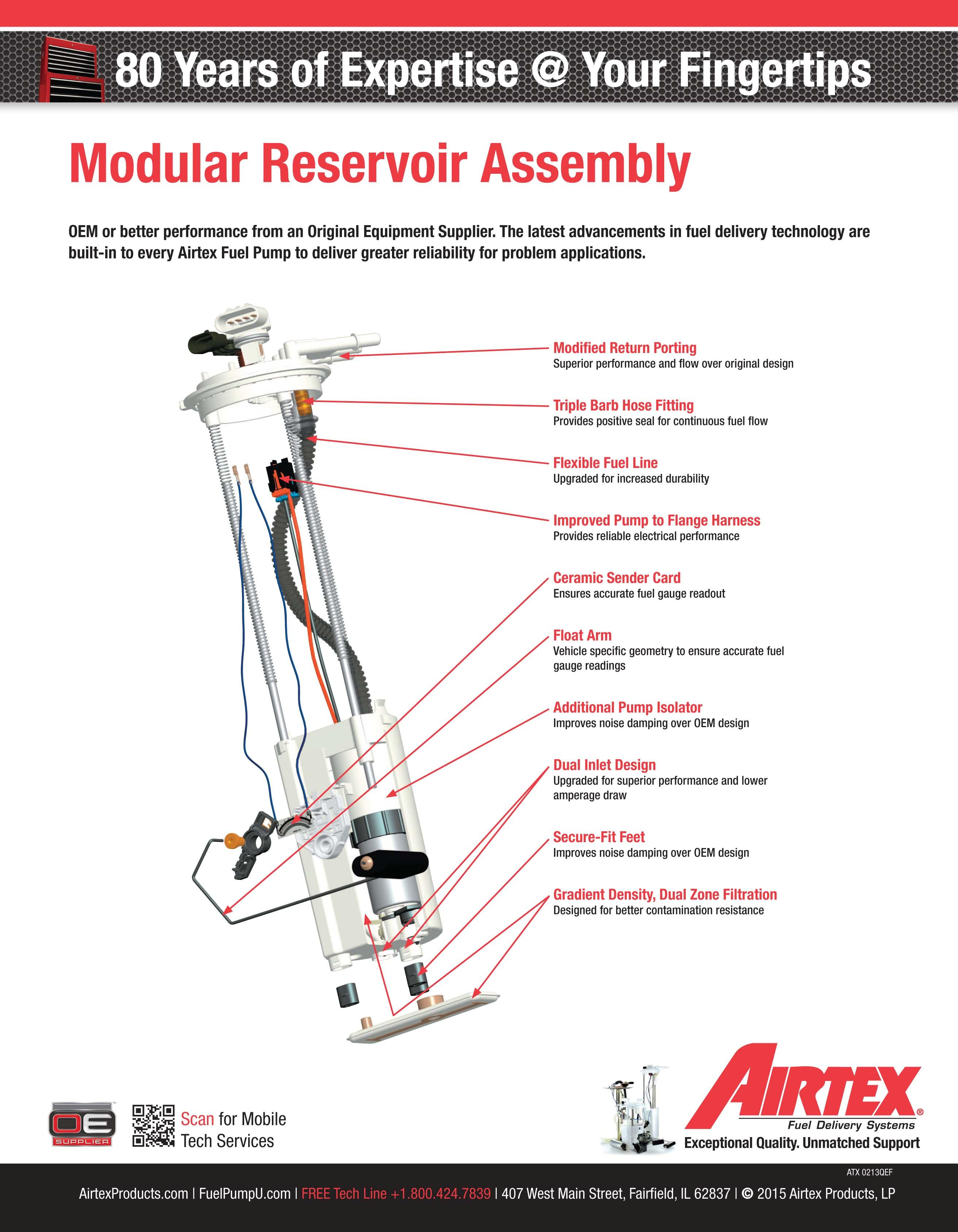 fuel pump module assembly, airtex