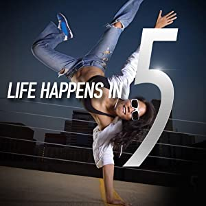 5 Gum Lifestyle. Life happens in 5. Woman breakdancing