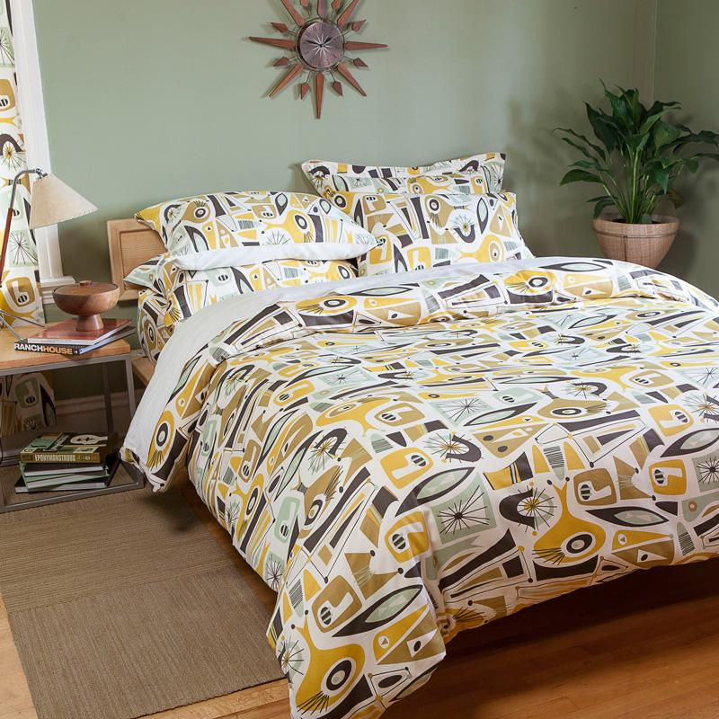 From The Manufacturer. Atomic Dreams Mid Century Bedding