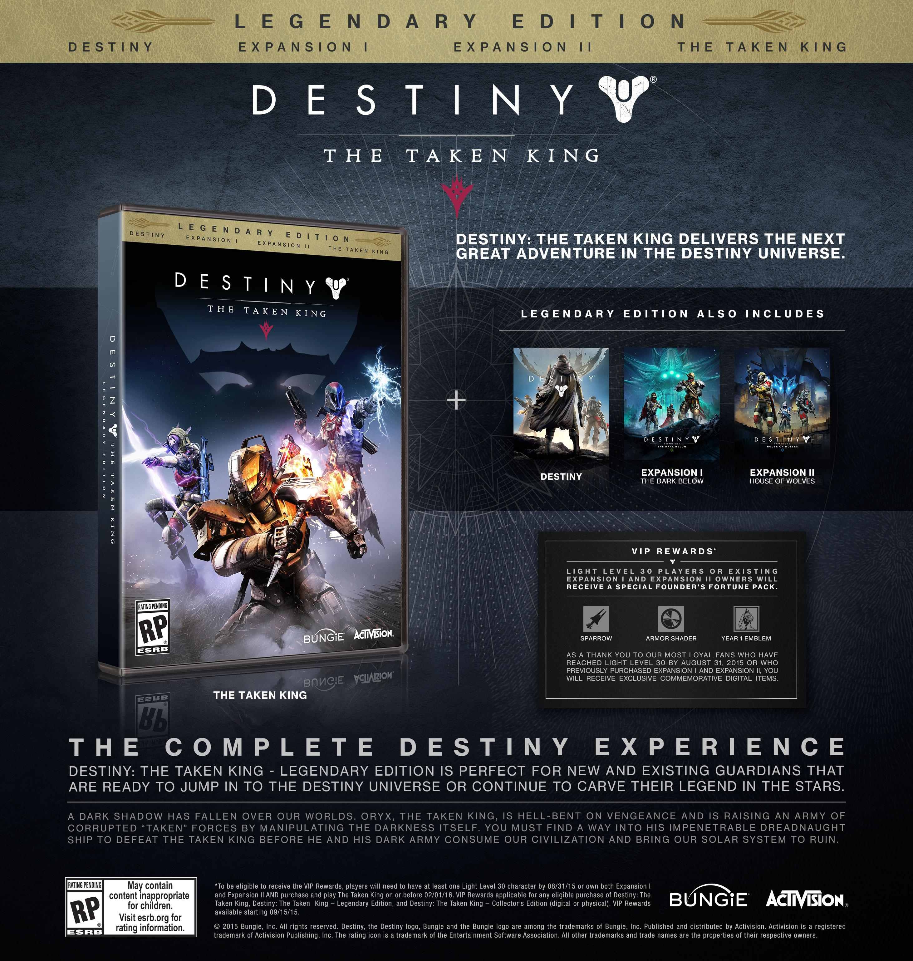 Amazoncom Destiny The Taken King Legendary Edition Xbox One