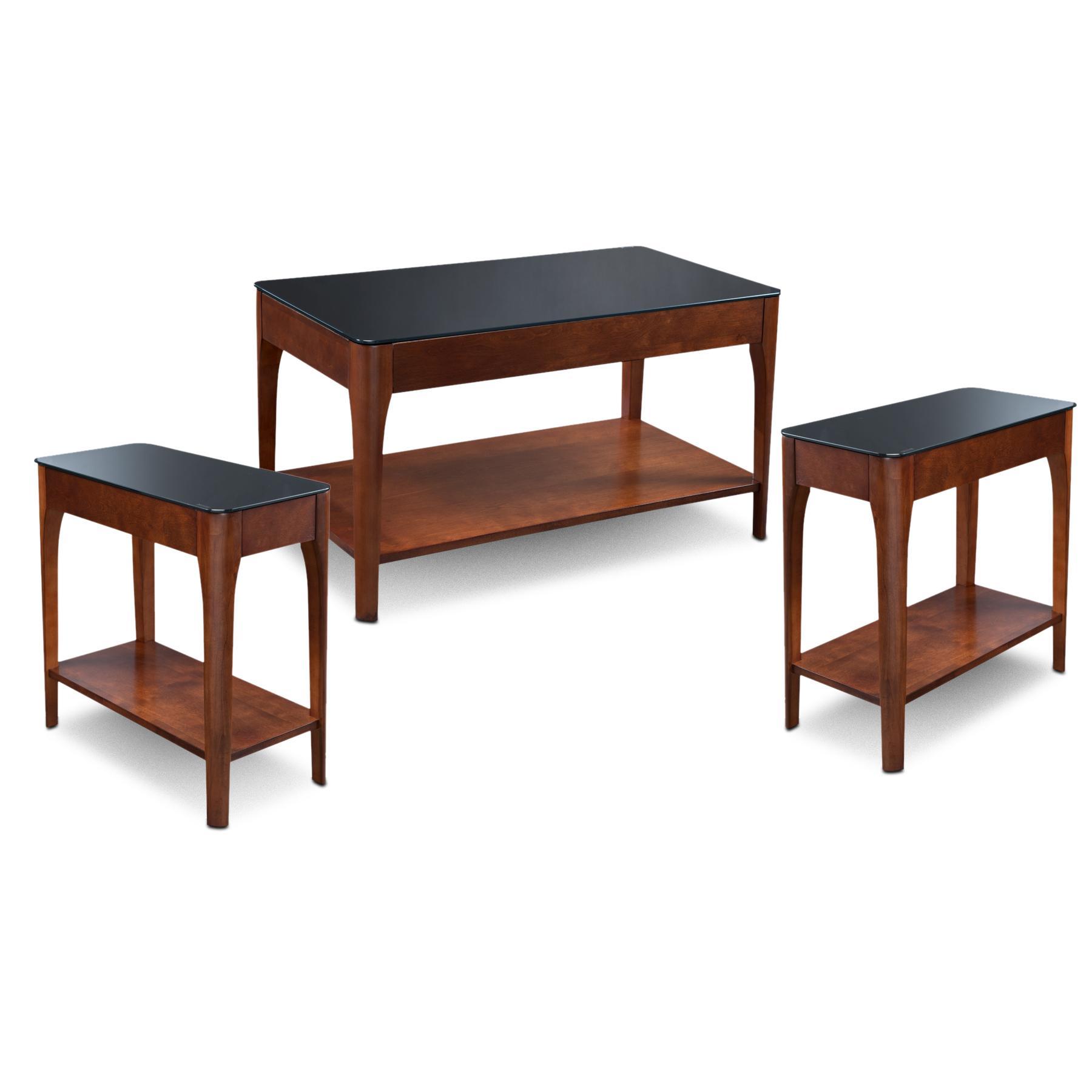 Black Glass Coffee Table Amazon: Amazon.com: Leick Glass Condo/Apartment Coffee Table & Two