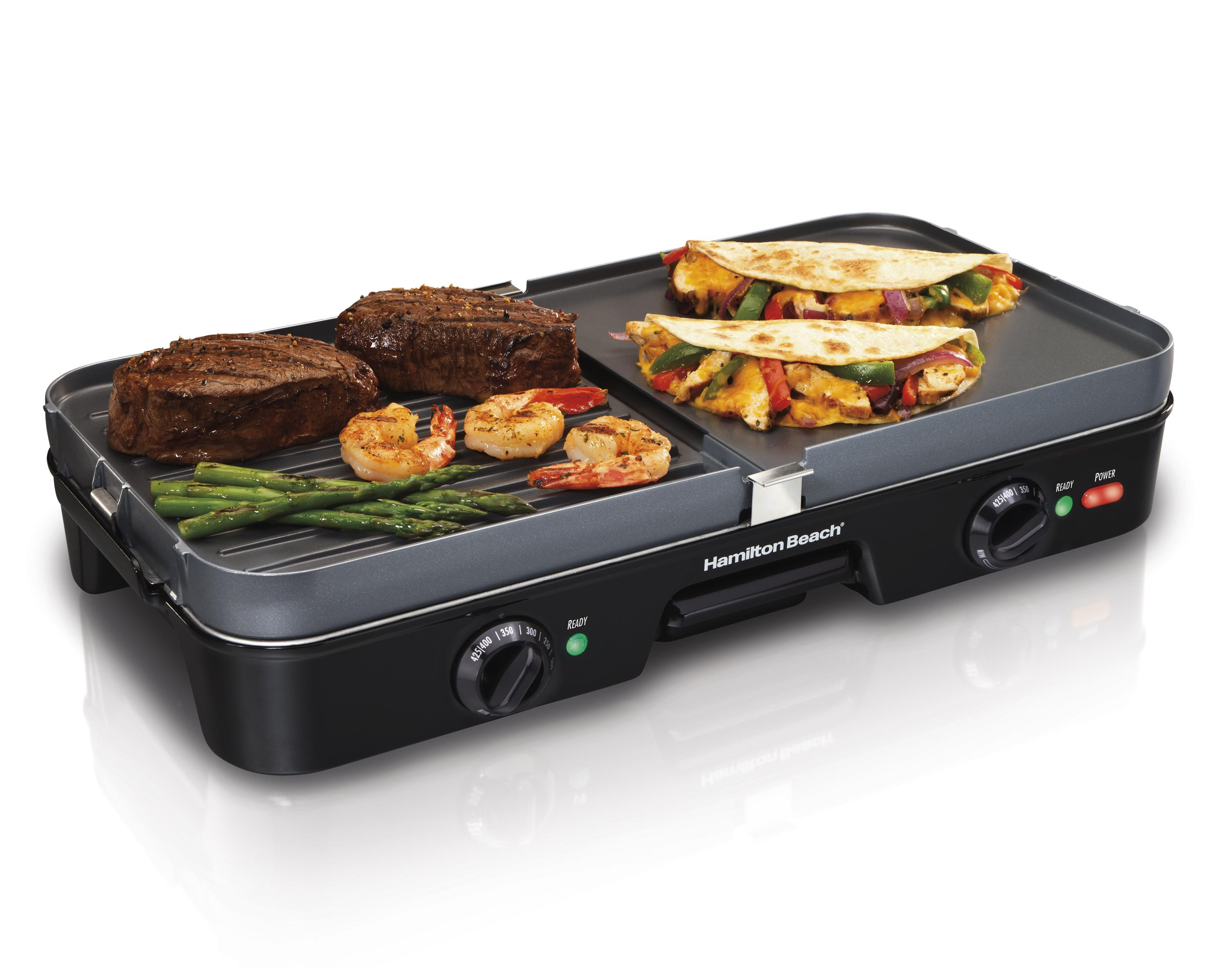 Amazon.com: Hamilton Beach 38546 3-in-1 Grill/Griddle ...