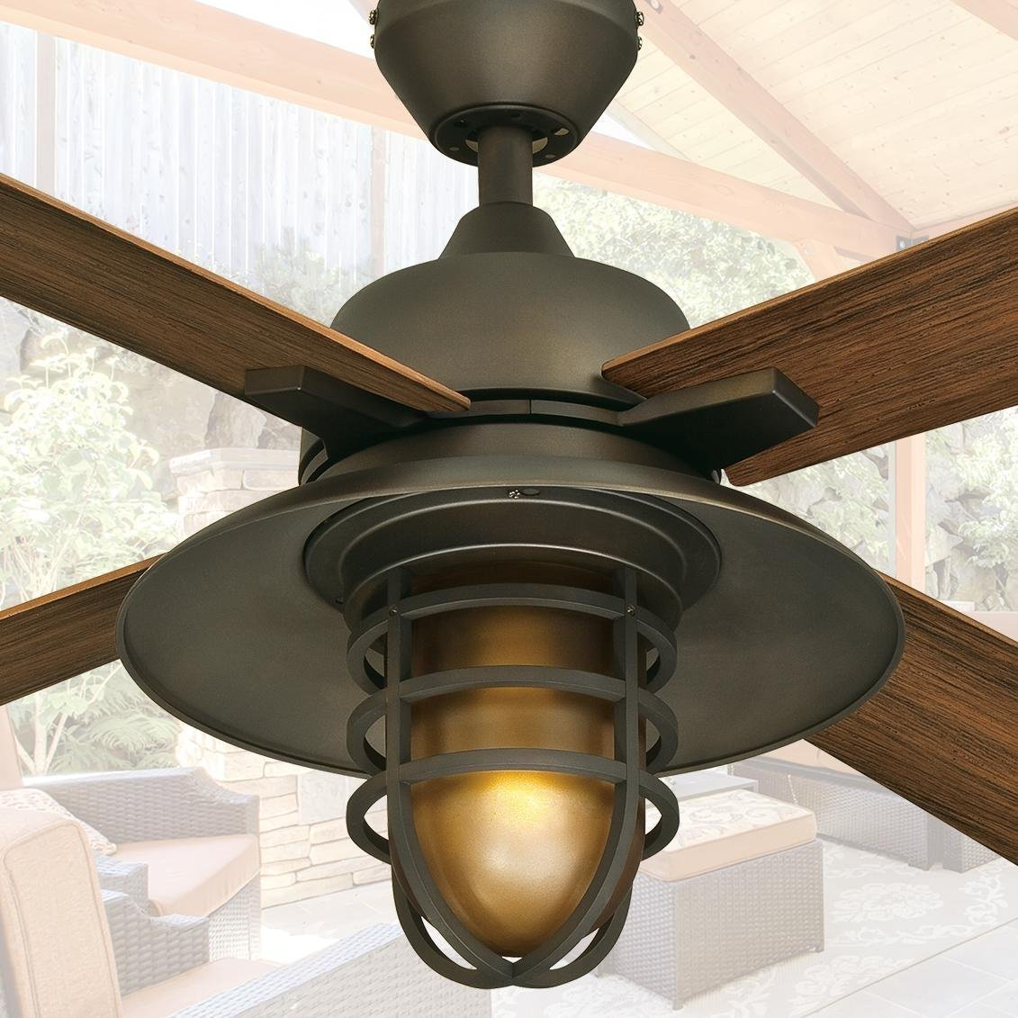 "Quality Ceiling Fans Photo 3 Of 6 Charming Ceiling Fan: Westinghouse 7204300 Great Falls One-Light 52"" ABS Resin"