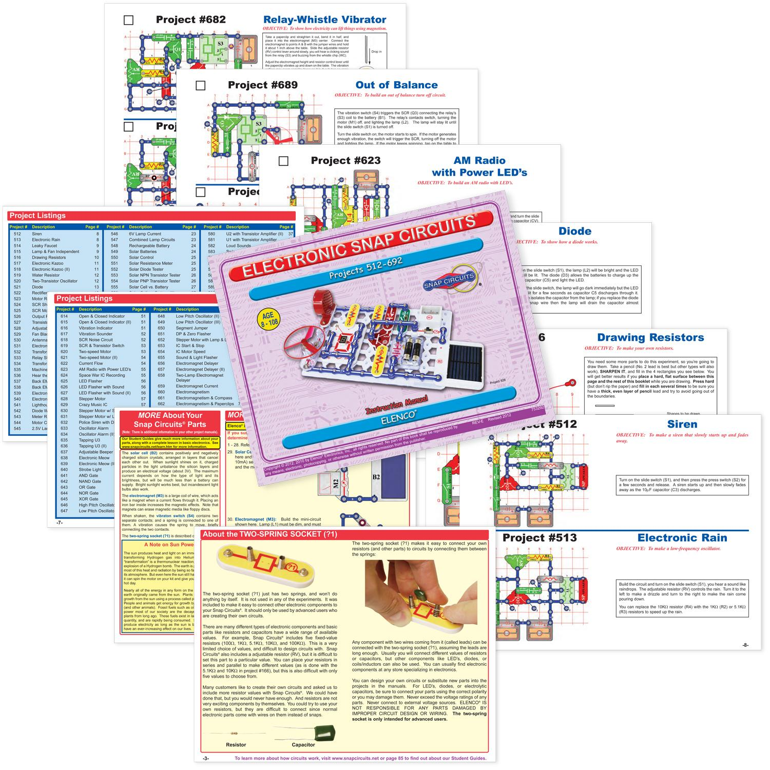 Electronic Snap Circuits 300 Manual Pololu Additional Parts Included With 300in1 And 500 Pro In 1 Sc Snapcircuit 1672