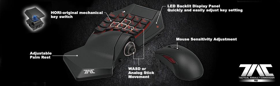 HORI Tactical Assault Commander Pro (TAC Pro) KeyPad and Mouse