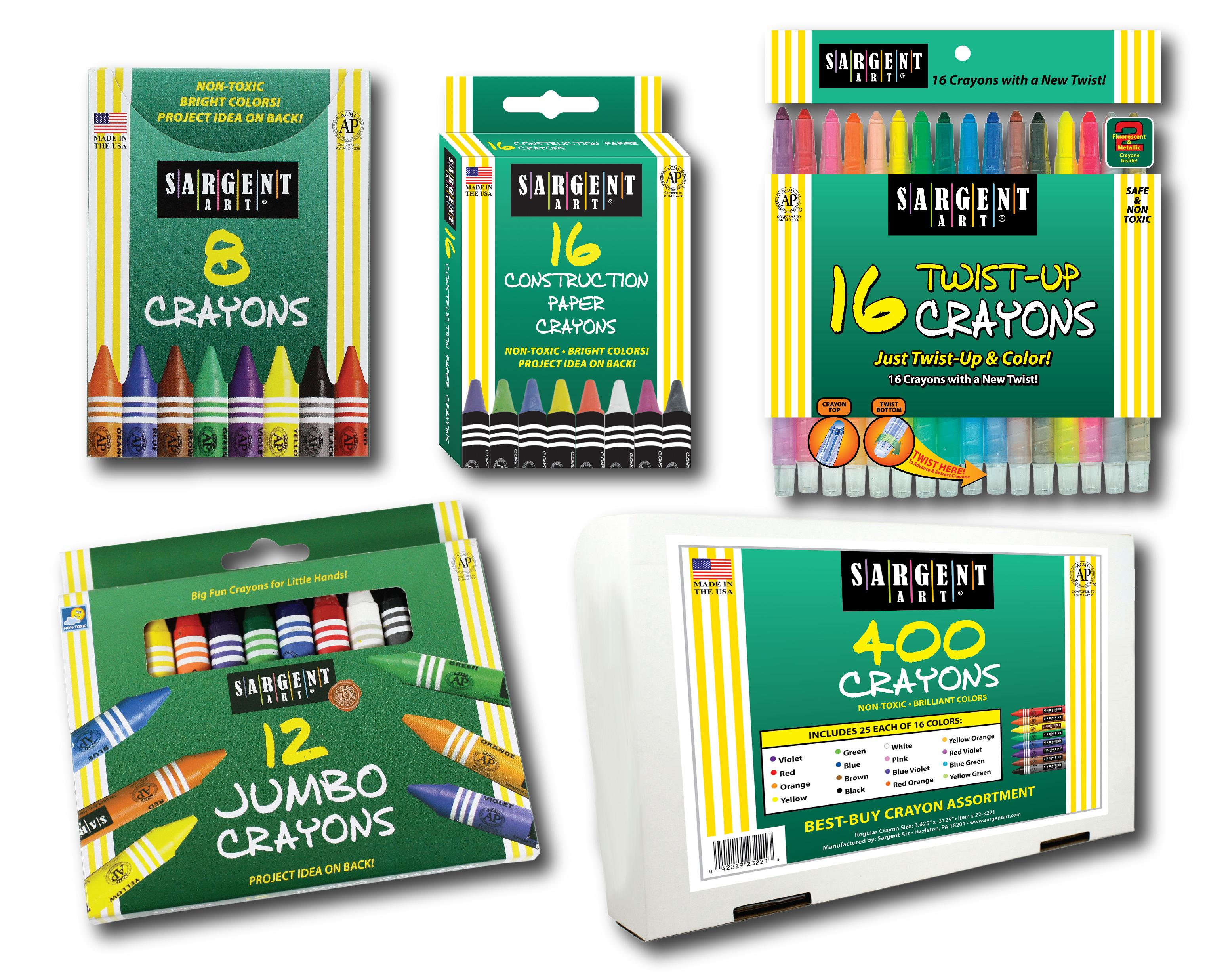 amazon com sargent art 22 1112 12 count water color crayons with brush