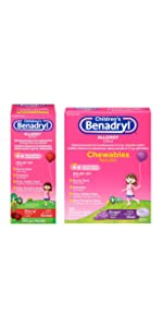 Children's Allergy Liquid & Chewables Products