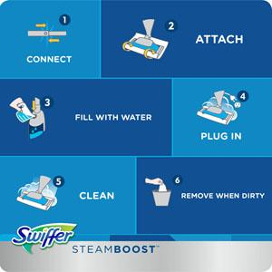 ... Bissell Steamboost Steam Mop Starter Kit In The Box - Dust Mops