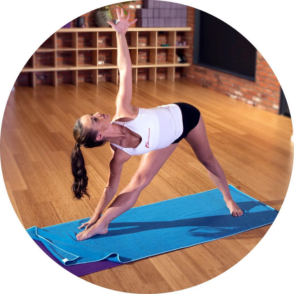 Amazon.com : ProSource Faveo Hot Yoga Mat Towel, Blue/Aqua