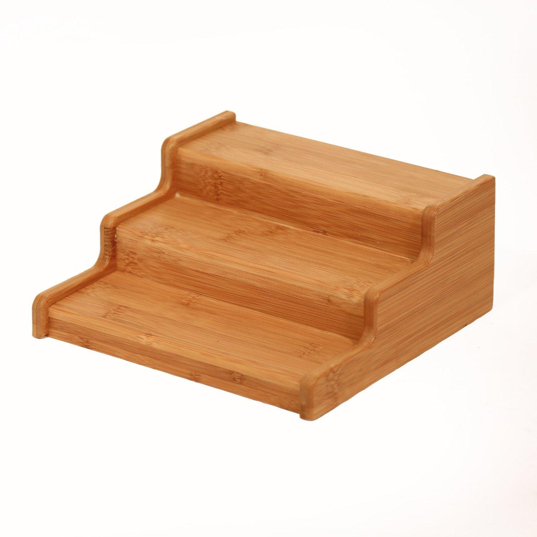 seville classics 3 tier expandable bamboo. Black Bedroom Furniture Sets. Home Design Ideas