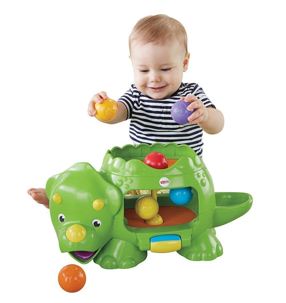 Amazon.com: Fisher-Price Double Poppin' Dino: Toys & Games