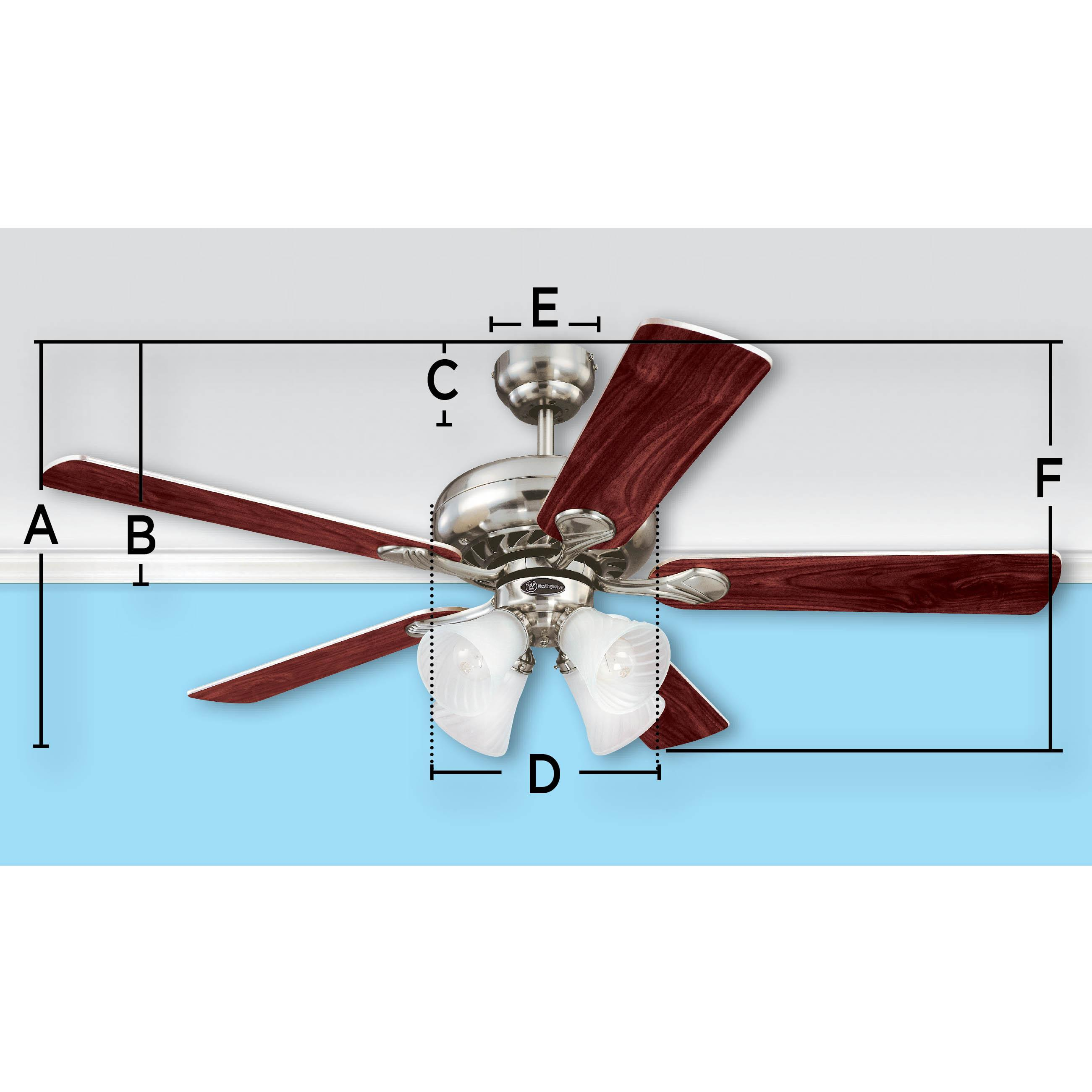 Ciata Lighting Industrial 56 Inch Three Blade Ceiling Fan