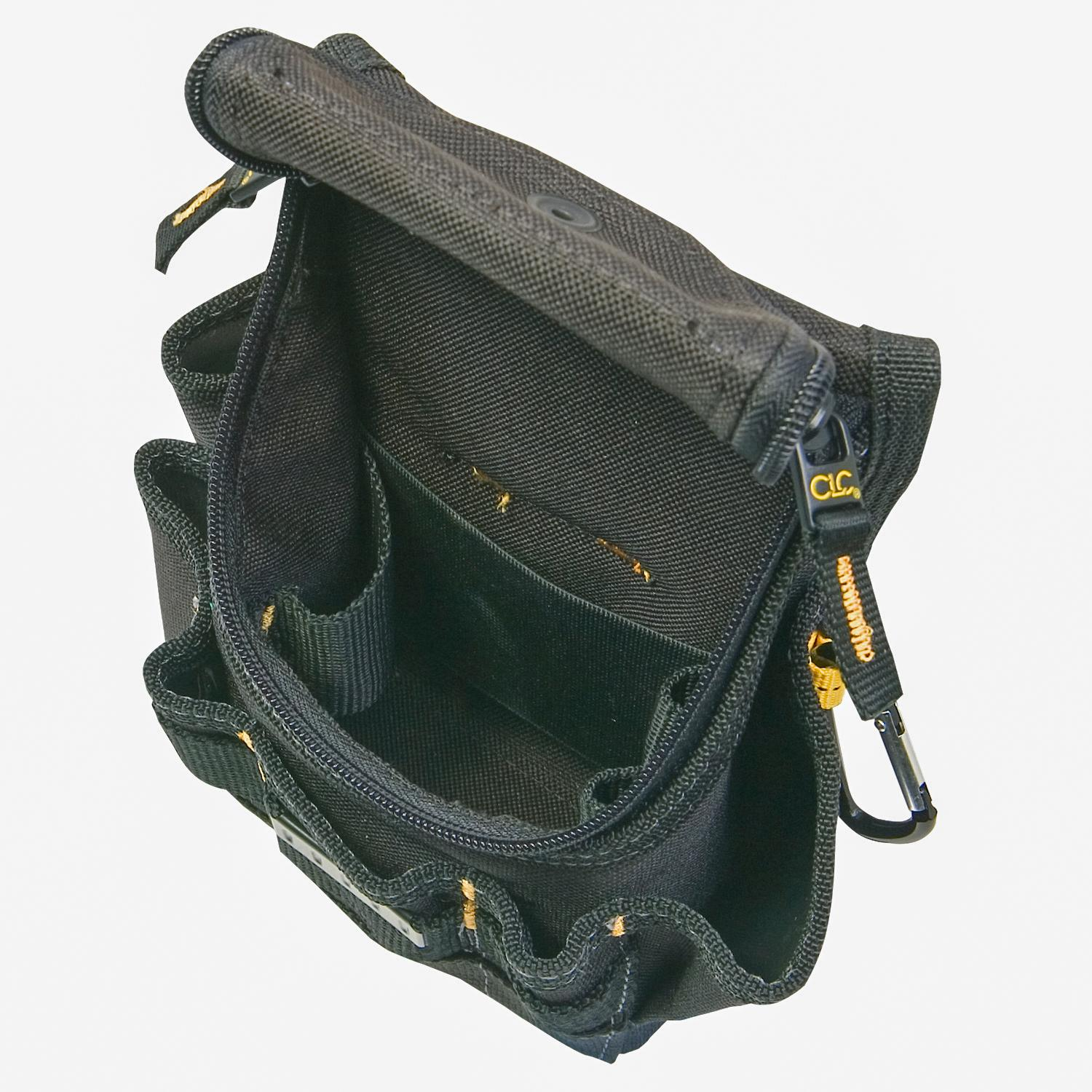 custom leathercraft 1523 ziptop utility pouch  small - tool pouches