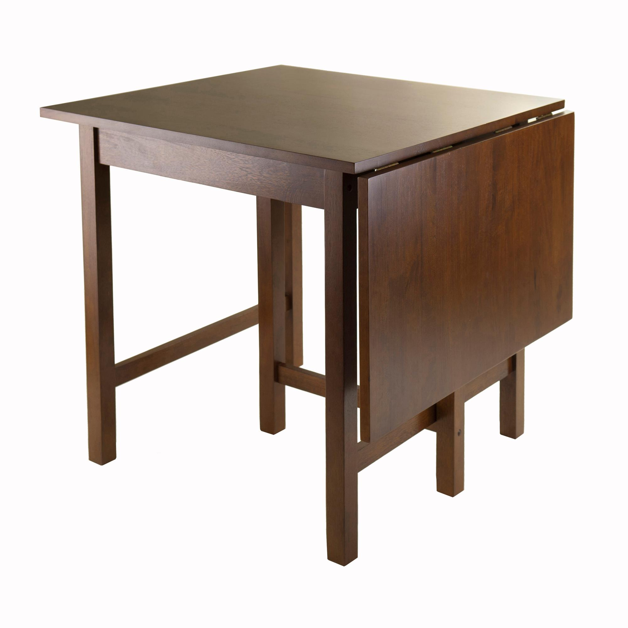 Winsome Wood Alamo, 94142, Double Drop Leaf, Round Table Mission, Walnut,  42 Inch Winsome Trading Inc.