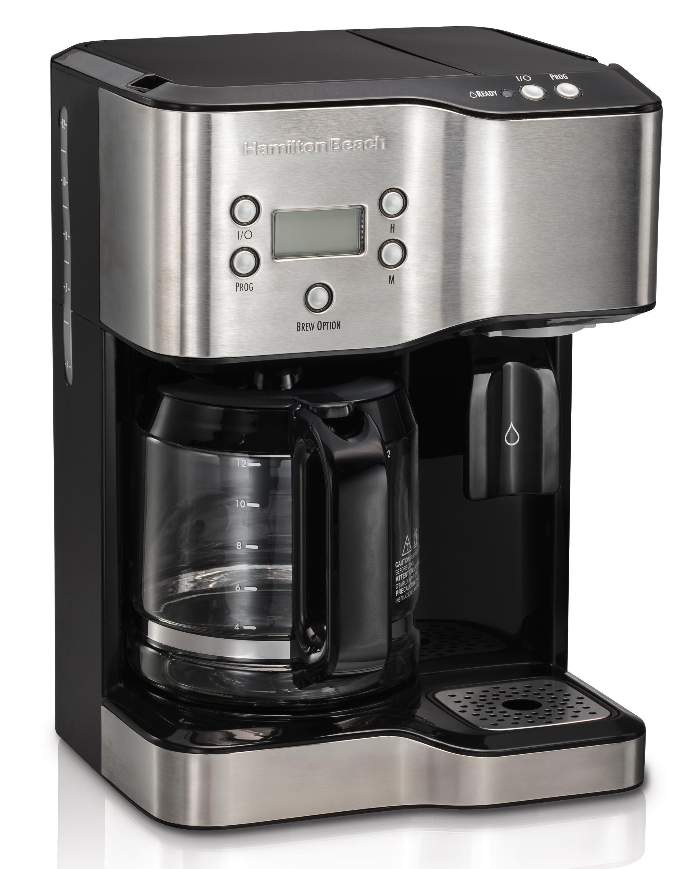 Using Hot Water In Coffee Maker : Amazon.com: Hamilton Beach 49982 Coffee Maker & Hot Water Dispenser, Black: Kitchen & Dining