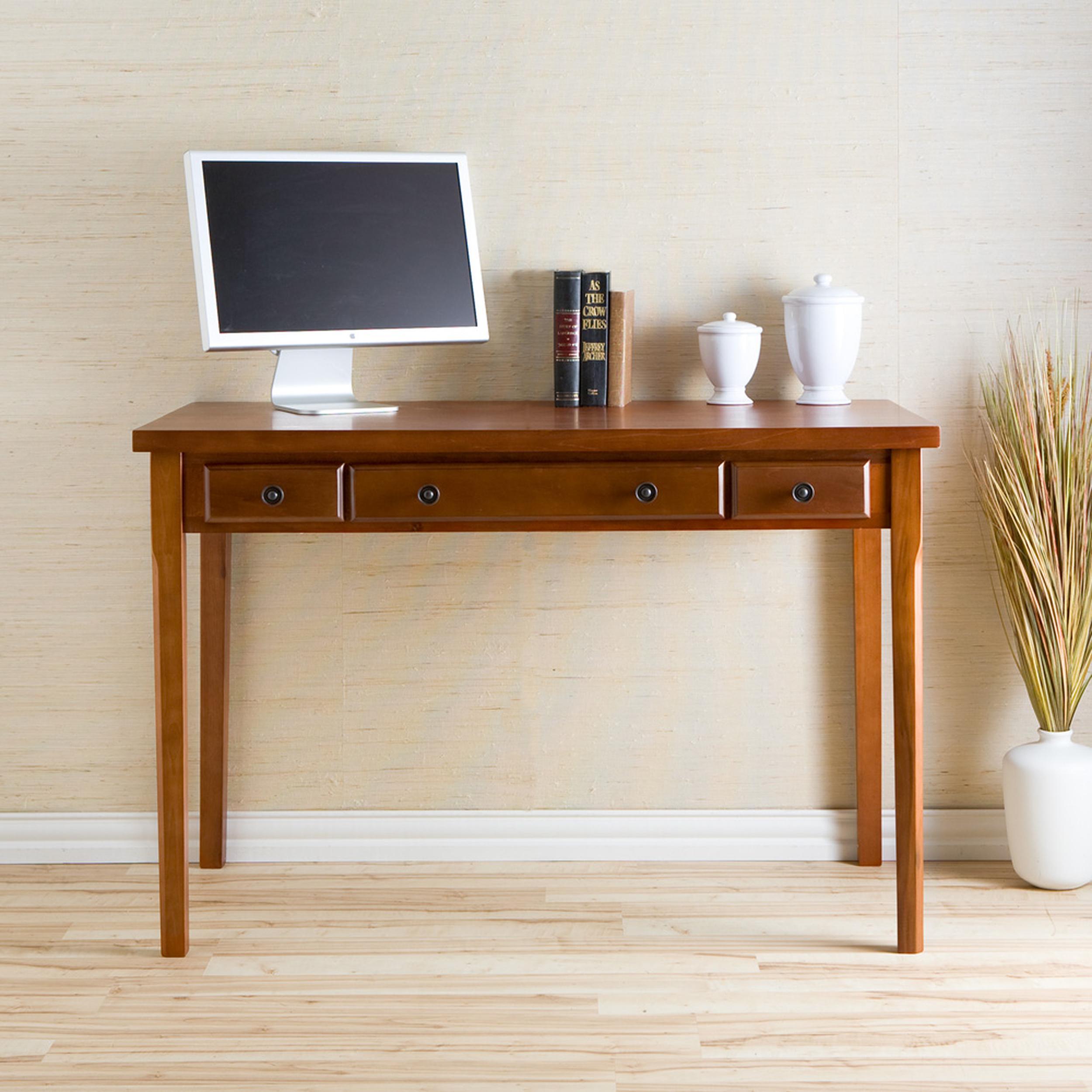 Amazon Com Sei Classic Medium Mahogany Desk With 2