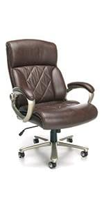 office;chair;executive;leather;luxury;task;big;tall;arms;padded;base;wheel;caster;mid-back;high-back