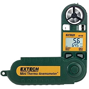 Extech, Thermo-Anemometer, water-resistant, wind chill, dew point, temperature, humidity