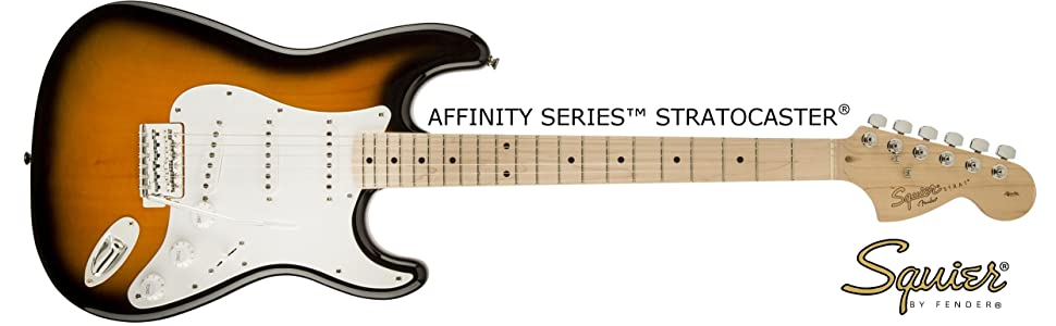 amazon com squier by fender affinity stratocaster beginner electric
