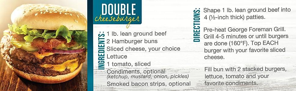 Double Cheeseburger Recipe