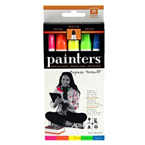 Painters Neon Bright Opaque Paint Markers, Medium