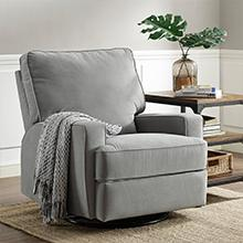 Baby Relax Rylan Swivel Gliding Recliner Gray Living Room