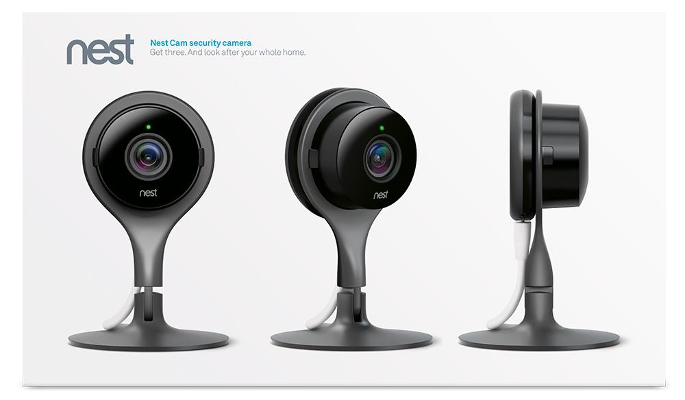 Amazon.com : Nest Cam Indoor Security Camera 3 Pack, Works with ...