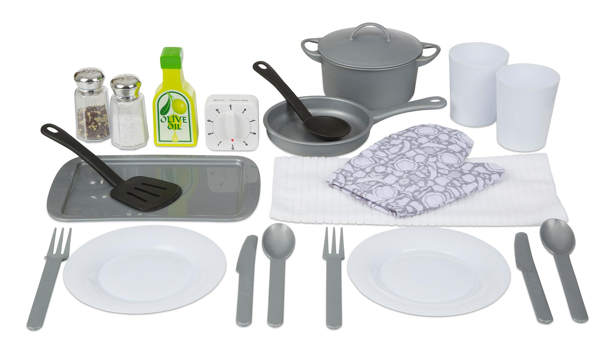 amazoncom melissa  doug piece play kitchen accessories set  - from the manufacturer play