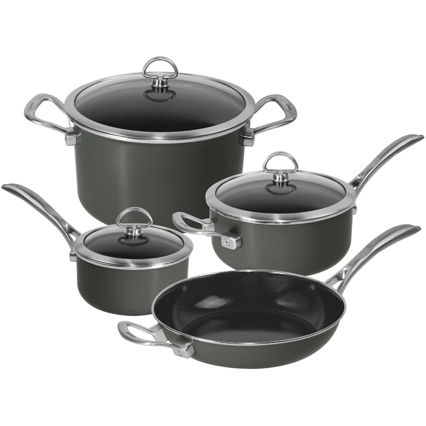 Amazon Com Chantal 7 Piece Copper Fusion Cookware Set